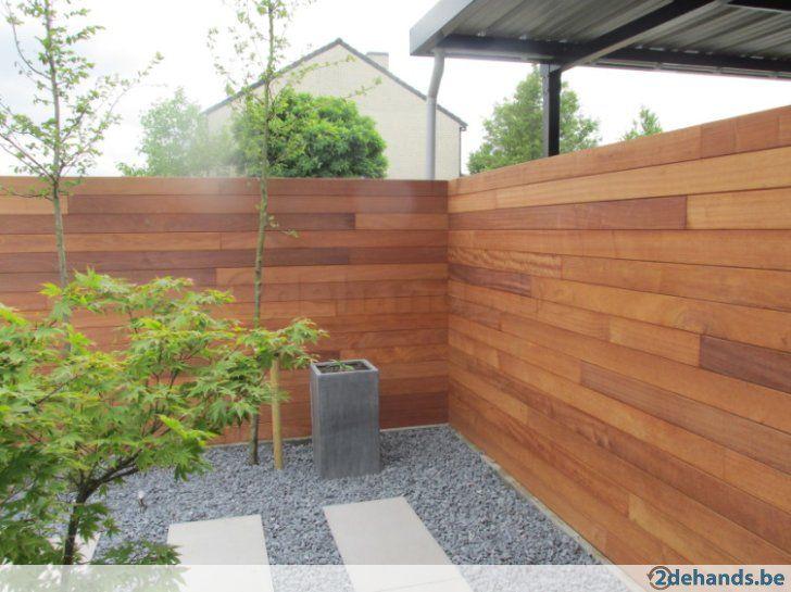 Moderne strakke tuinschuttingen in tropisch hardhout hardhouten omheining pinterest - Buitenkant terras design ...