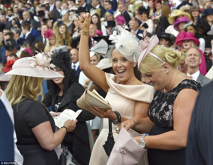 As the afternoon drew on excitement mounted among the crowds and one woman revealed the na...