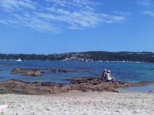 Beautiful Balmoral Beach in Mosman, NSW Australia