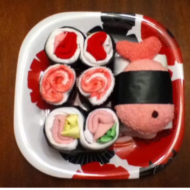Sushi baby shower gift!