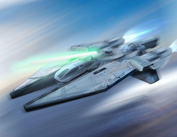 Conceito do veículo de Starwars por Michael Linman | Ilustração | 2D | CGSociety