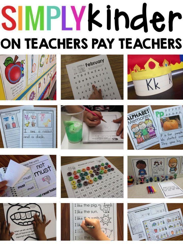 Simply Kinder - Great kindergarten printables and activities.