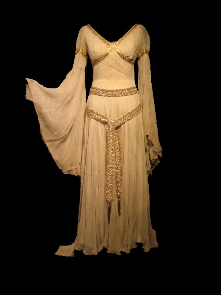 """Costume designed by Edith Head and worn by Rhonda Fleming in the 1949 Paramount musical """"A Connecticut Yankee in King Arthur's Court""""."""