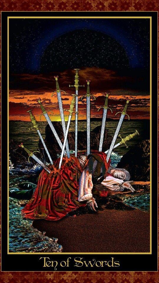 Rebirth Divination Card: 40 Best Ten Of Swords Images On Pinterest