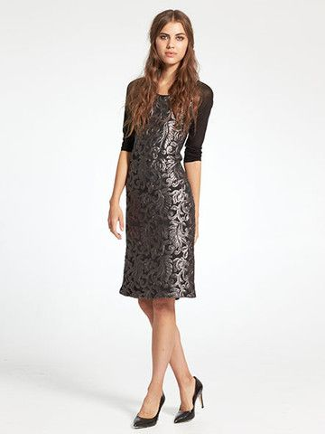 Dark and Moody for an ornate Winter Wedding? This Caroline Sills number fits the bill