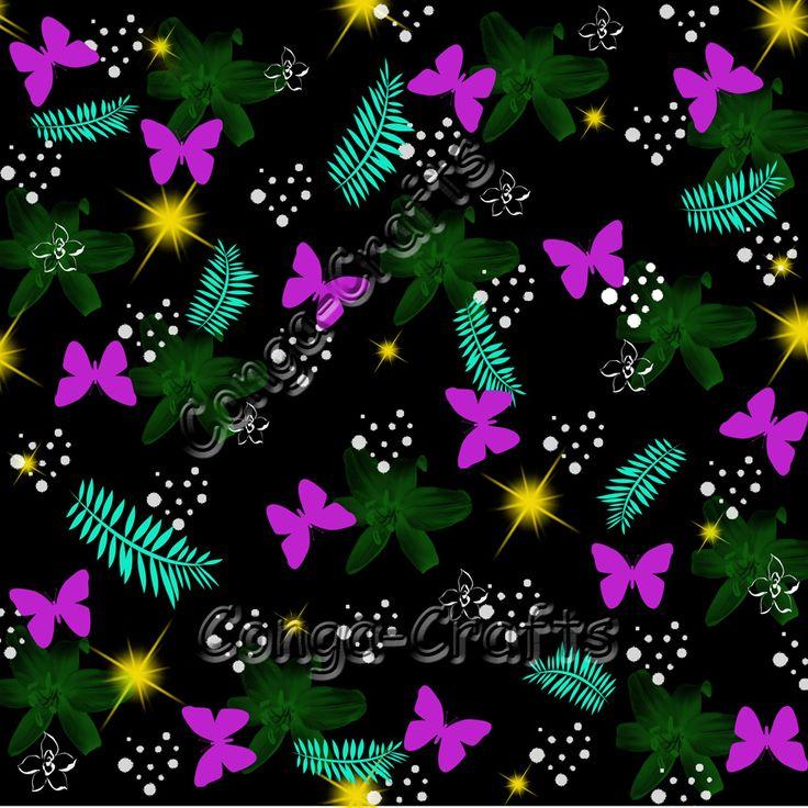 Stoffmuster Schmetterlinge