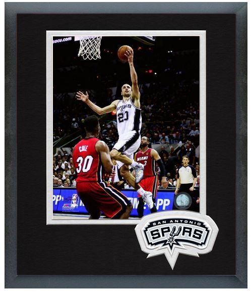 Manu Ginobili Spurs Game 1 of the 2014 NBA Finals - 11 x 14 Matted/Framed Photo