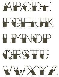 american traditional tattoo alphabet - Google Search