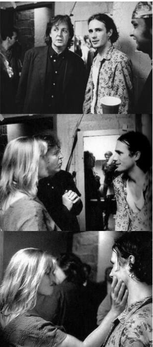 Paul & Linda McCartney with Jeff Buckley....Sooo cool that they got the chance to meet. Jeff was such an astounding talent.