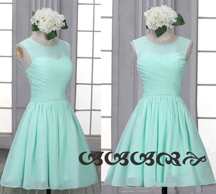 Aqua Mint Green Short Sweetheart Bridesmaid Prom Evening Homecoming Dresses Gown