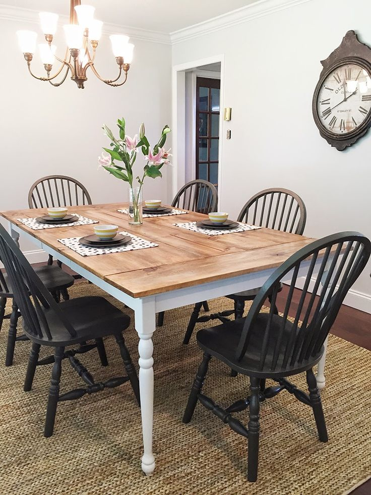 Brittanys Rancher Reno The Big Reveal Dark Chairs With White Natural Table