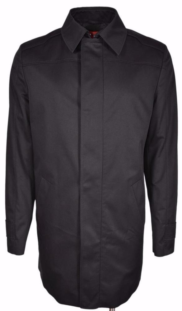 NEW BOSS Hugo Boss Orange Line Moskar $545 Black Trench Coat Jacket 44 R #HUGOBOSS #Trench