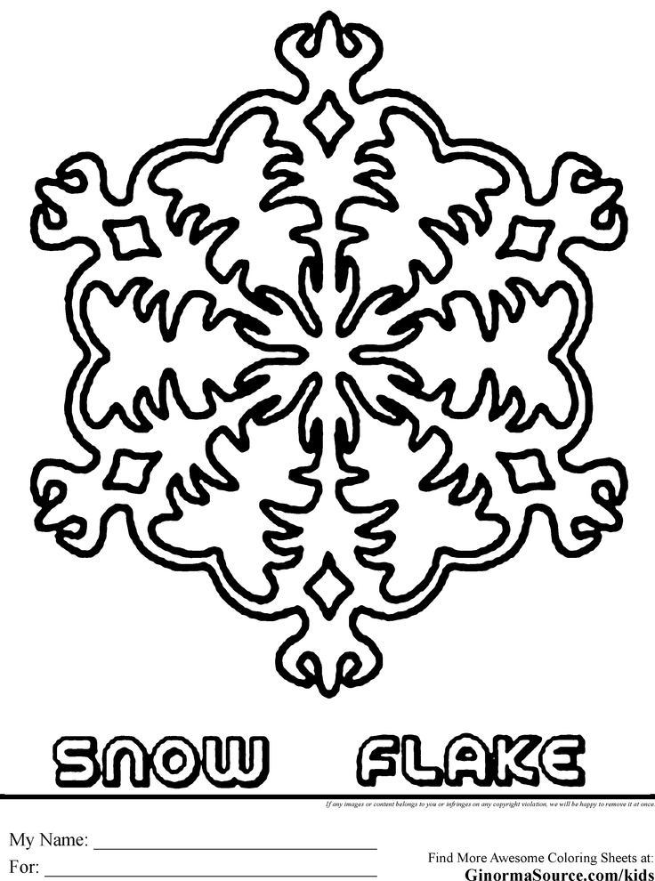 snowflake coloring pages 5 - Christmas Snowflake Coloring Pages