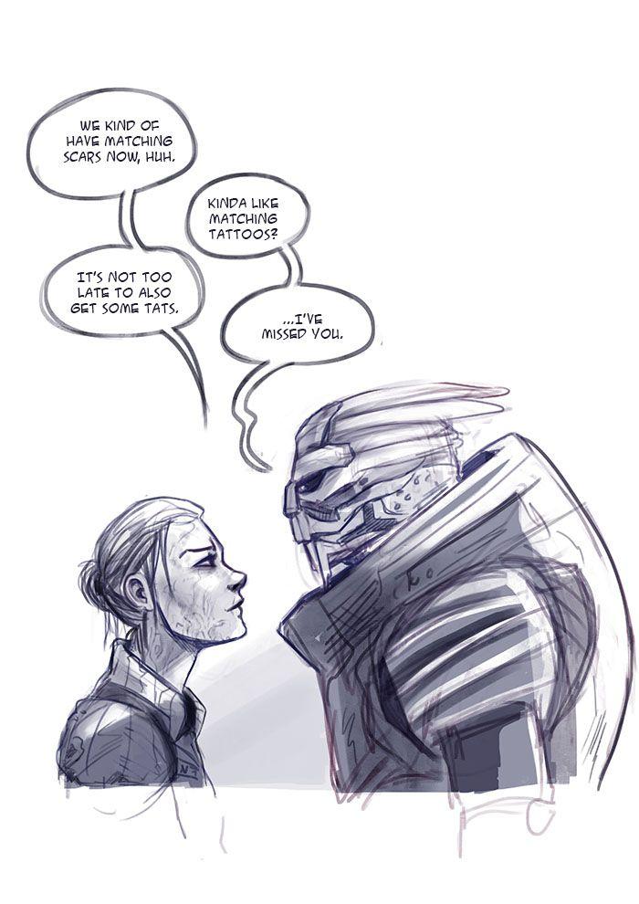 Mass Effect 3: Matching Scars by ladymadeofglass.deviantart.com on @DeviantArt