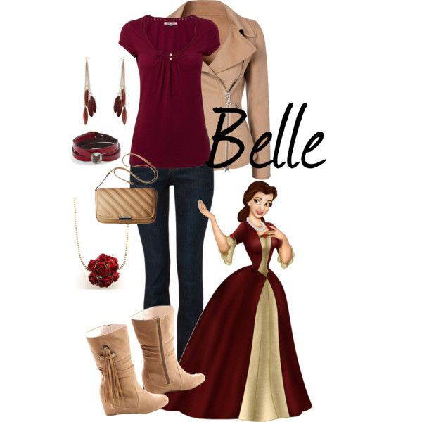 Belle by saeabryony on Polyvore featuring White Stuff, Moschino Cheap & Chic, Joe Browns, Disney and disney