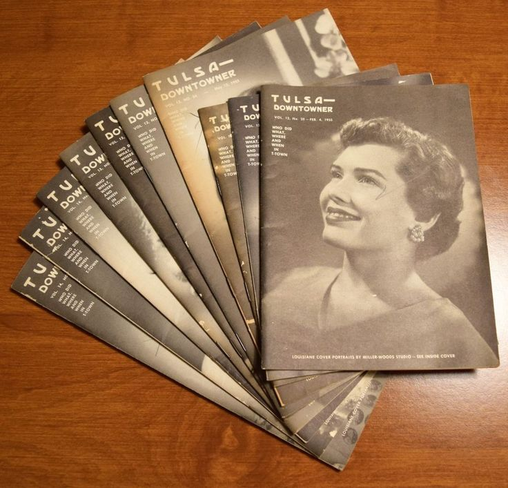 Tulsa Downtowner Oklahoma 10 pamphlets periodical lot 1955
