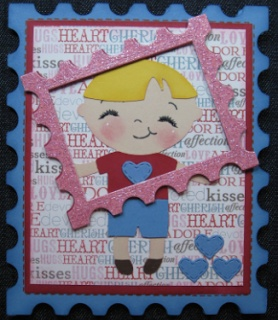 In the Pink, Designs by Cathryn: Little Boy Card - My Creative Time December Release Sneak Peek #3-postage die