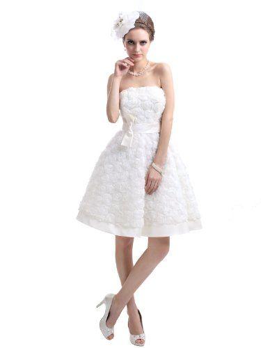 Landybridal Women's Strapless Knee Length Lace A Line Wedding Dress LD2307 US4 Ivory Landybridal,http://www.amazon.com/dp/B00CIQZGLW/ref=cm_sw_r_pi_dp_5tzEsb0EJ66F7XJT