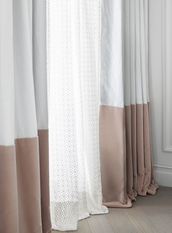 Very romantic drapery in a Swiss Chalet designed by Kelly Hoppen