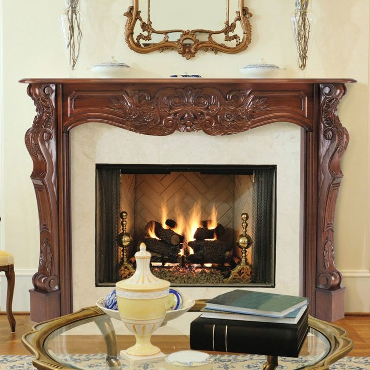 pearl mantels deauville wood fireplace mantel surround
