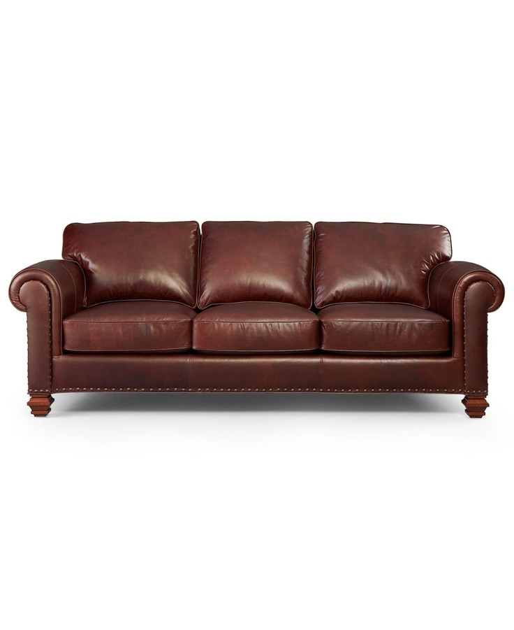 Lauren ralph lauren leather sofa stanmore living room for Leather sofa family room
