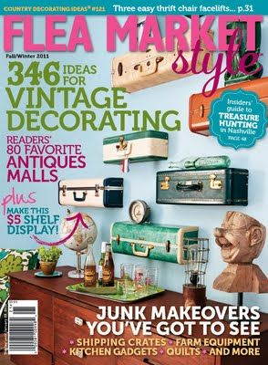Fall 2011 Flea Market Style magazine in stores now!: Ideas, Vintage Suitcase, Fleas, Flea Markets, Suitcases, Magazines, Suitcase Shelves, Flea Market Style