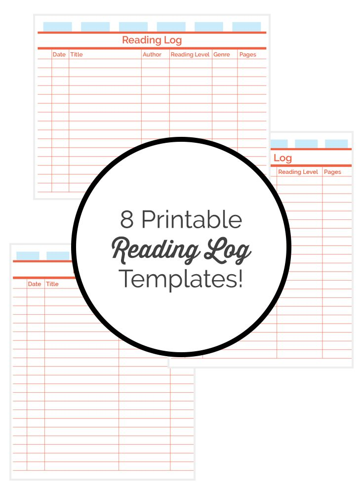 Get 8 printable reading log templates reading journal for Reading log for high school students template