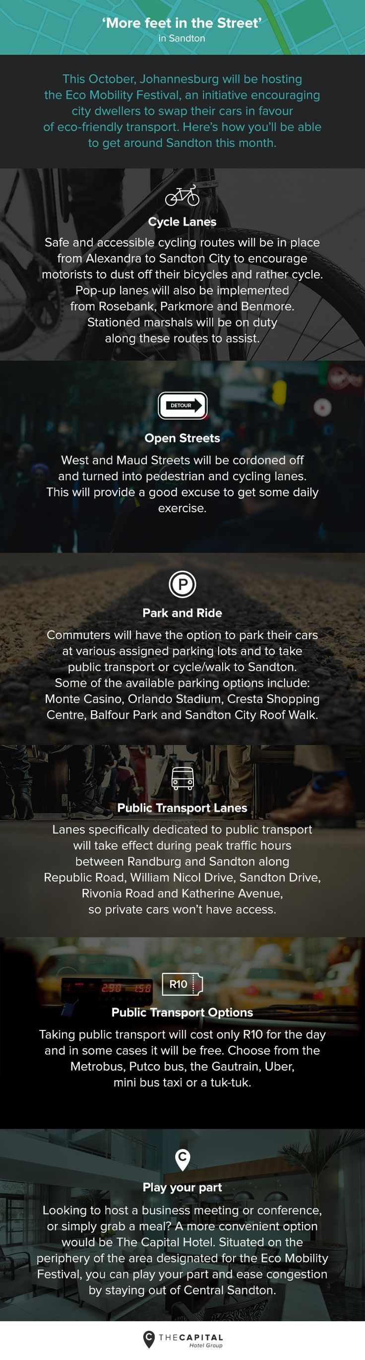 How to get around Sandton during the Eco Mobility Festival in Johannesburg 2015. #transport #travel #johannesburg #southafrica