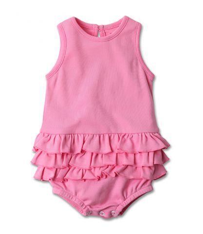 Hot Pink Baby Ruffle Romper