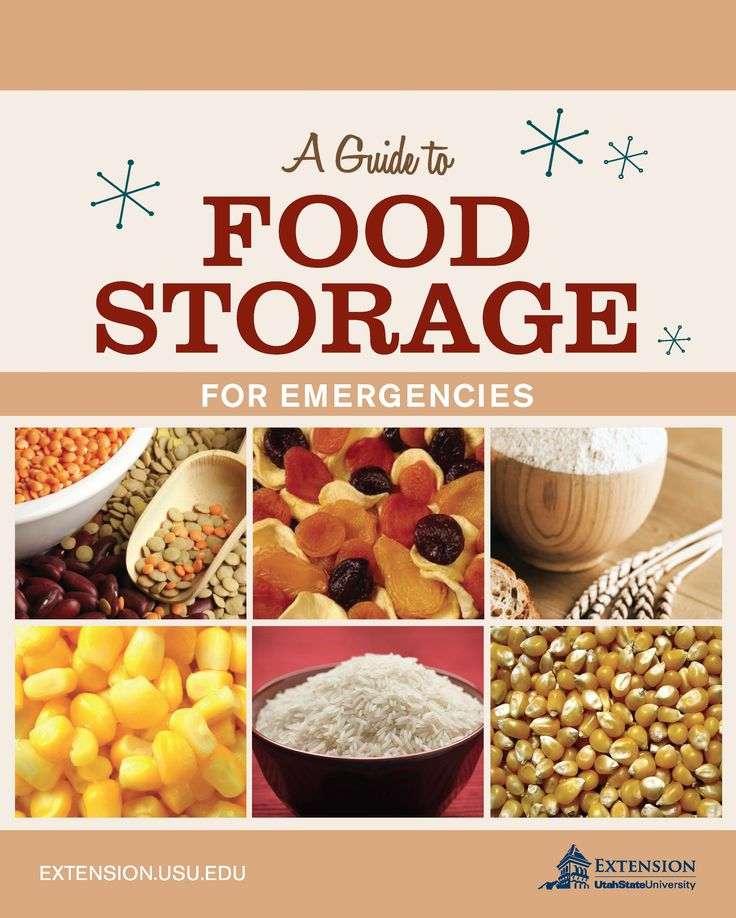 A Guide to Food Storage for Emergencies from Utah State University Extension. What types of food should be stored? How much food should be stored? Answers and more. #NebraskaExtension