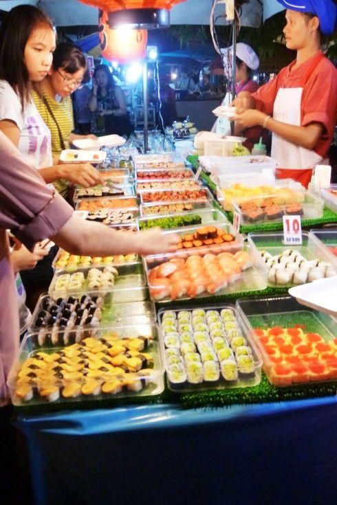 Street food in Sunday Walking Market. Chiang Mai, Thailand