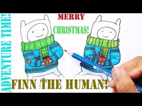 Learn to draw Christmas Finn The Human from Adventure time! It's fun and easy to draw. I will also show you how to colour it in time lapse.