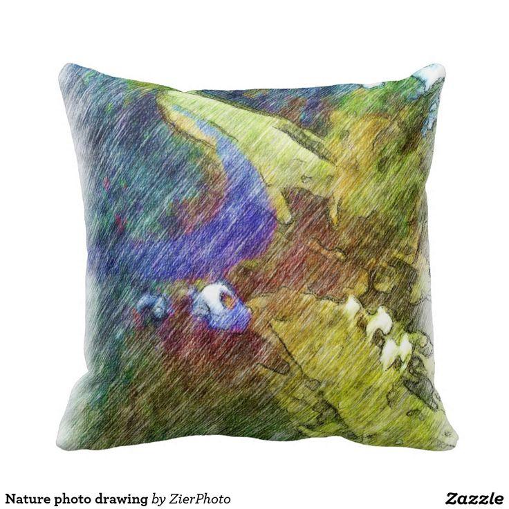 Nature photo drawing pillows