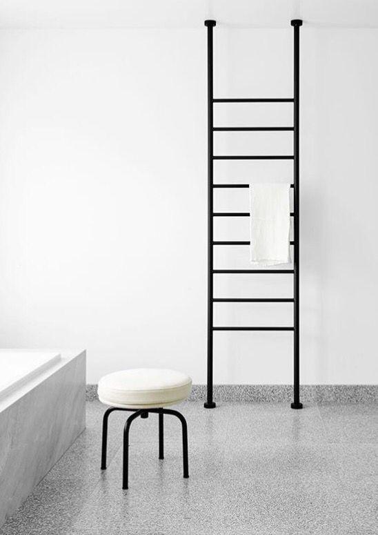 Heated Towel Rail Floor To Ceiling Credit Flack Studio Bathroom In 2019 Pinterest