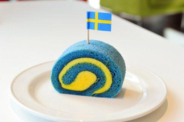 IKEA Japan's Swedish Flag Roll Cake Gives You The Blues
