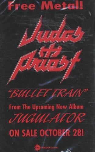 Judas Priest Bullet Train 2000 USA cassette album 0099787229-4: JUDAS PRIEST Bullet Train (US promo cassette custom title sleeve)