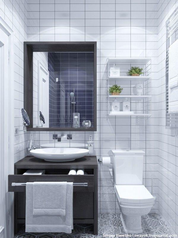 White Tile Bath