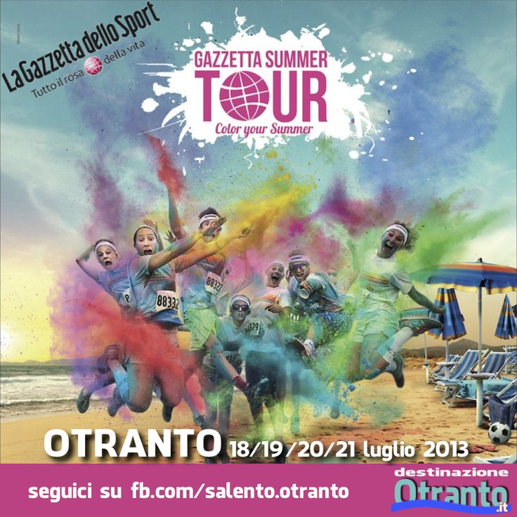 dal 18 al 21 luglio #Otranto si dipinge di rosa con un ricco programma a base di sport, divertimento, musica e buon umore.   qui il programma completo: www.gazzettasummer.it/village-life/palinsesto-eventi/
