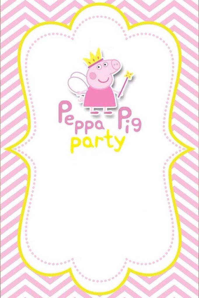Invitación peppa pig