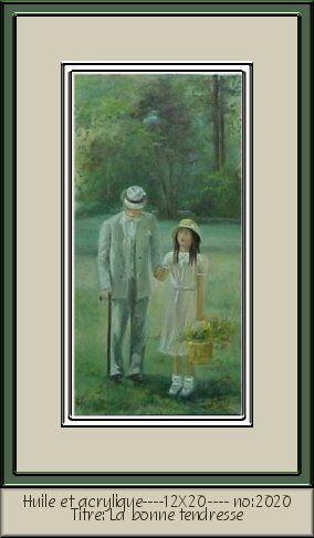 Grand-papa et sa petite fille en promenade