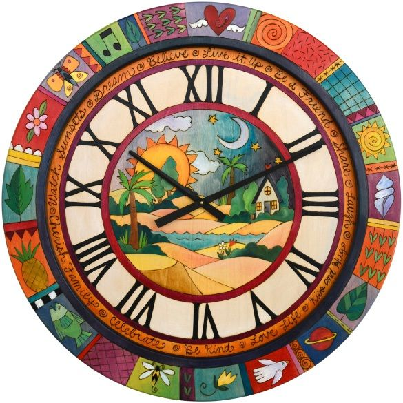 ArtsyAbode.. Forget the other clocks, I want this onnneee!!  =D