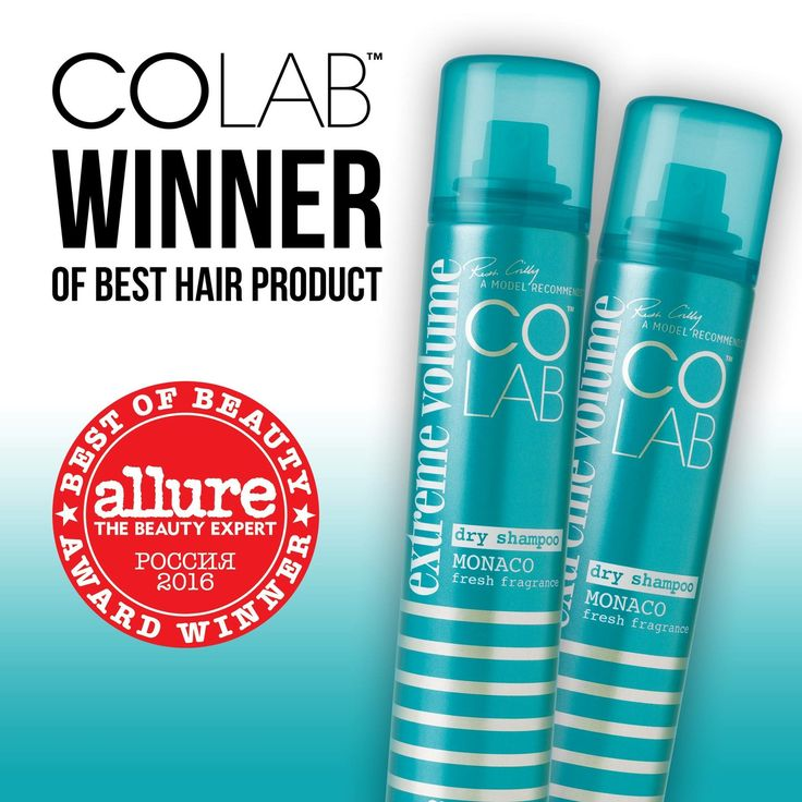 "Yasssssss!🎉🎉🎉 COLAB Extreme Volume Monaco was voted ""Best Hair Product"" in the Russian Allure Beauty Awards! 🏆 #COLAB #DryShampoo #ExtremeVolume #AllureBeautyAwards #Winning"