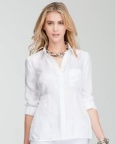 bebe Open Back Button Up Blouse: Open Back