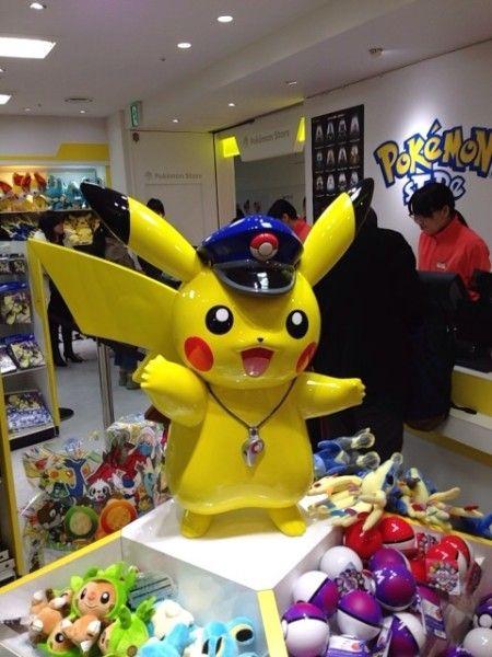 Pokemon Photos from Tokyo - Stationmaster Pikachu Figure at Tokyo Station Pokemon shop