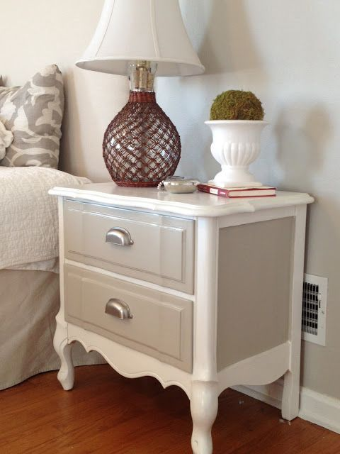 Dty Night Stands Refinished Nightstand In Diy Chalk Paint Before And After Photos