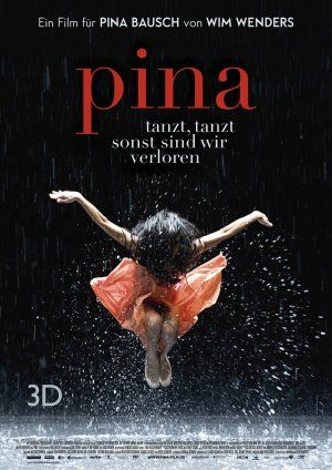 PINA is a German documentary film about the contemporary dance choreographer Pina Bausch. It was directed by the German filmmaker Wim Wenders. During the preparation of the documentary, Pina Bausch died unexpectedly. Wenders cancelled the film production, but the other dancers of Tanztheater Wuppertal convinced him to make the film anyway. It showcases these dancers, who talk about Pina and perform some of her best-known pieces.