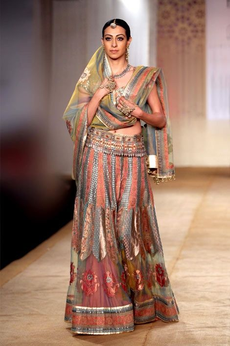 Couture exquisite Indian sari outfit