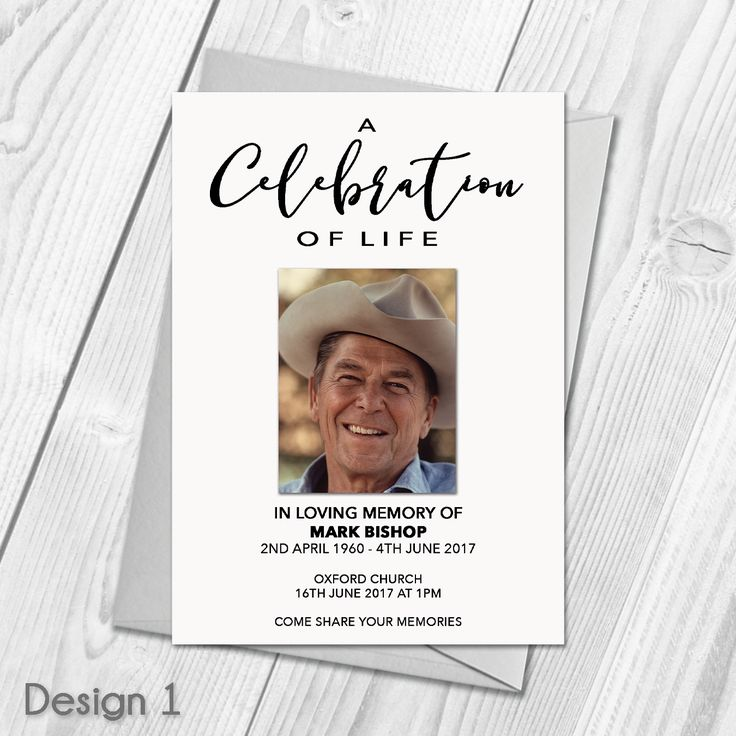 13 best Personalised Funeral Announcement Cards images on Pinterest ...
