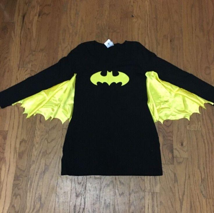 NWOT Rubies Batman Superhero Cosplay Costume Fitted Black Dress Wings Large. I WANT IT. I WANT IT SO BAD.
