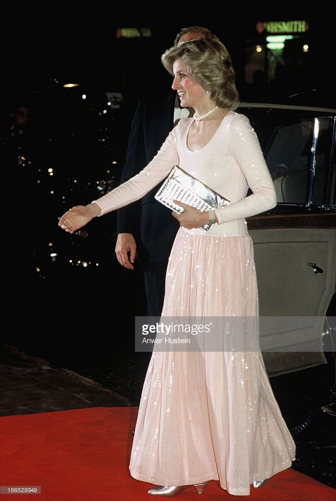 Diana, Princess of Wales attends the musical 'Starlight Express' on March 30, 1984 in London, England